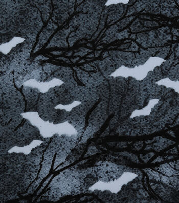 Halloween Cotton Fabric-Glowing Haunted Forest