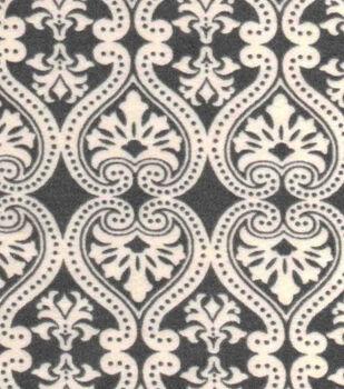 Snuggle Flannel Fabric -Damask Grey