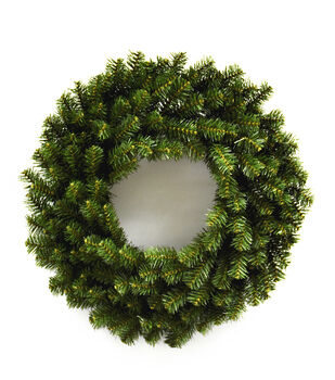 blooming holiday christmas 24 pvc pine wreath - Burlap Christmas Decorations Wholesale