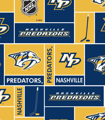"Nashville Predators Fleece Fabric 60""-Block"