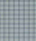 Waverly Upholstery Fabric-Country Square/Azure