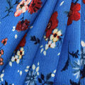 Americana Summer Crinkle Rayon Fabric-Blue Sprigged Ditsy Floral