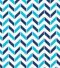 Keepsake Calico™ Cotton Fabric-Broken Chevron Blue, Navy