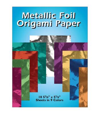 """Metallic Foil Origami Paper-5-7/8""""X5-7/8"""" 18/Pkg"""