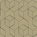 York Wallcoverings Wallpaper-Gold & Black Hexagon