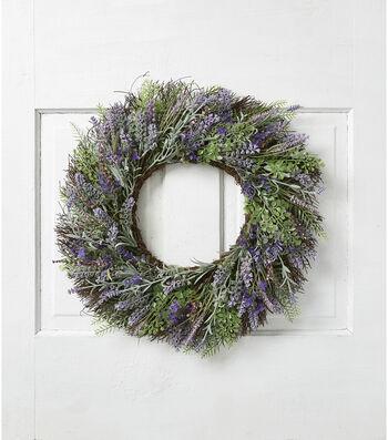 Fresh Picked Spring 22'' Lavender Wreath