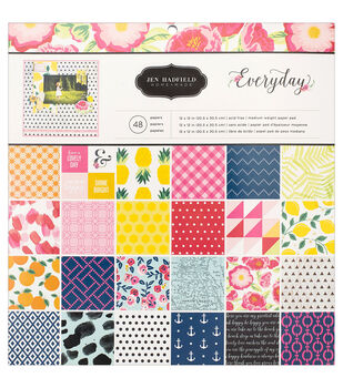 Pebbles Jen Hadfield Everyday 12''x12'' Single-Sided Paper Pad