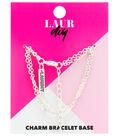 LaurDIY 7\u0027\u0027 Bracelet Base with Charm-Silver Finish