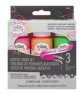 Testors 3ct Acrylic Paint Set-Fluorescent