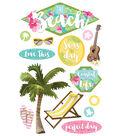 Paper House 4.5\u0027\u0027x8.5\u0027\u0027 3D Stickers-The Beach