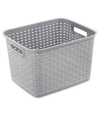 Sterilite Tall Weave Basket-Cement