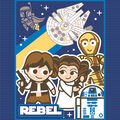 Star Wars No Sew Fleece Throw-Kawaii Rebel Friends