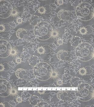 Halloween Spirit Fabric-Gold Celestial Sky