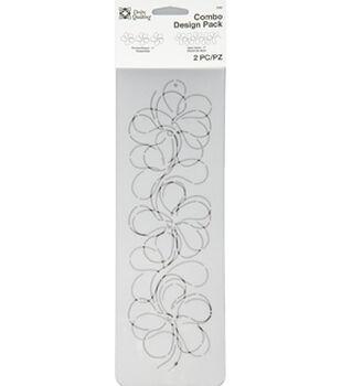 Dritz Quilting Combo Design Stencil Pack-Blossom Splish Splash