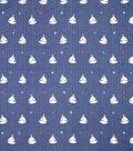 Doodles Textured Fabric 43\u0027\u0027-Sail Boats on Navy