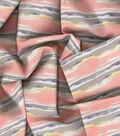 Kathy Davis Linen Look Apparel Fabric 53\u0027\u0027-Warm Waves