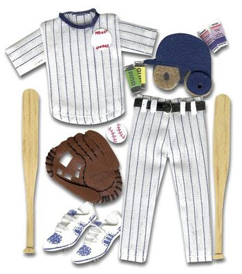 Jolee's Boutique Themed Ornate Stickers-Baseball