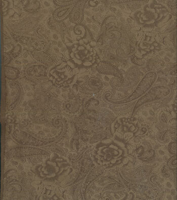 "Suede Fabric 57""-Tonal Paisley"
