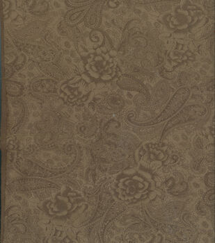 Suede Fabric -Tonal Paisley