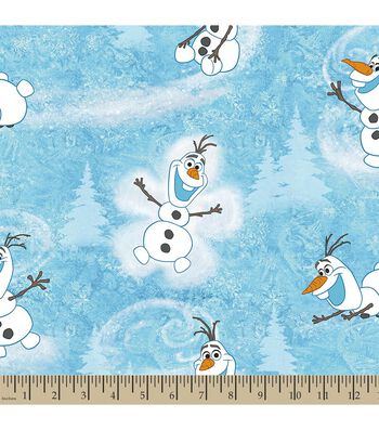 Disney Frozen Print Fabric-Olaf's Winter