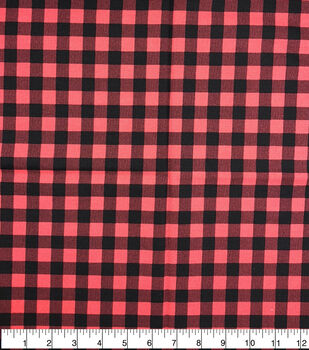 Keepsake Calico Cotton Fabric-Buffalo Check Red & Black