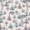 Blizzard Fleece Fabric-Desert Teepee