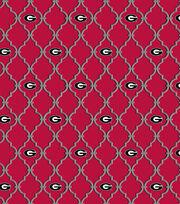College Teams Georgia Bulldogs Cotton Fabric 44''-Trellis, , hi-res