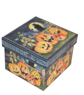 Organizing Essentials Small Square Box-Haunting Halloween