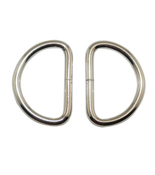 """Everything Mary Silver 1.5"""" D-Rings-2pk"""
