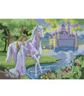 15-1/4\u0022x11-1/4\u0022 Junior Paint By Number Kit-Fairy Castle