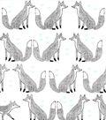 Nursery Flannel Fabric 42\u0027\u0027-Sketched Foxes