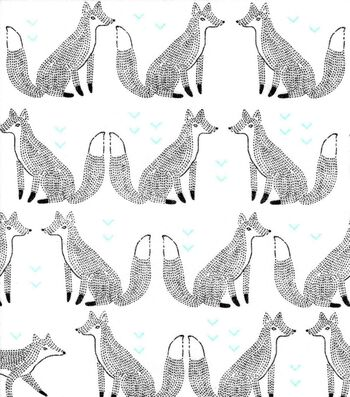 Nursery Flannel Fabric 42''-Sketched Foxes