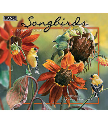 2019 Wall Calendar Songbirds