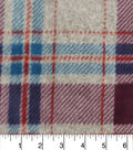 Luxe Fleece Fabric 59\u0022-Purple Teal Grey Heather Plaid