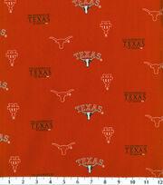 University of Texas Longhorns Cotton Fabric -Herringbone, , hi-res