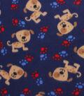 Blizzard Fleece Fabric 59\u0022-Spotted Puppy