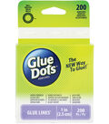 Glue Dots 1\u0022 Glue Line Roll-200 Clear Lines
