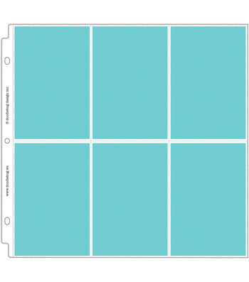 "Doodlebug Photo/Recipe Card Protectors 12""X12""-Vertical"