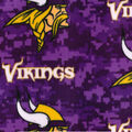 Minnesota Vikings Fleece Fabric -Digi Camo