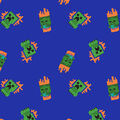 Minecraft Fleece Fabric-Tossed Zombie & Creeper