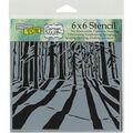 Crafter\u0027s Workshop Sunlit Forest Template 6\u0027\u0027x6\u0027\u0027