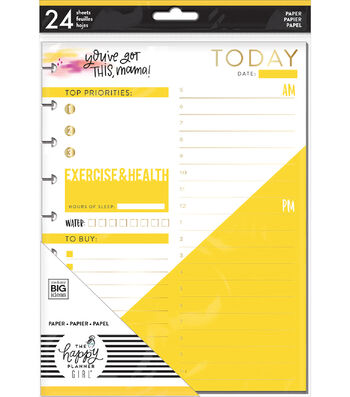 The Happy Planner Girl Classic Note Paper-Faith Warrior