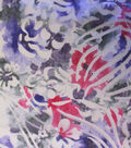 Fashion Linen Fabric-Burnout Abstract Purple/Pink