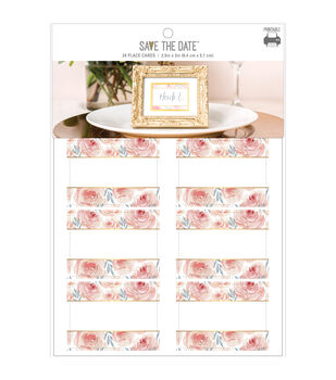 Save the Date 24 pk 2.5''x2'' Place Cards-Floral