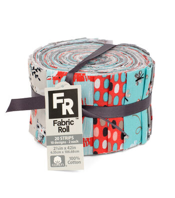 Jelly Roll Cotton Fabric Pack 2.5''x42''