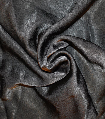Silky Sanded Satin Fabric -Black