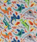 Novelty Cotton Fabric 44\u0022-Dragons Gray