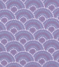 Snuggle Flannel Fabric 42\u0022-Gypsy Dotted Scales Purple