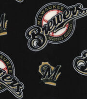 Milwaukee Brewers Fleece Fabric -Allover, , hi-res