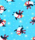 Anti-Pill Fleece Fabric 59\u0022-Happy Penquins